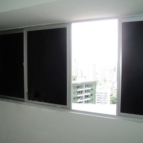 Adesivo Blackout Bloqueia Luz Solar Porta Janela - 1m X 50cm