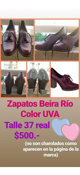 Zapatos Invierno Mujer Beira Rio Color Uva 1 Uso