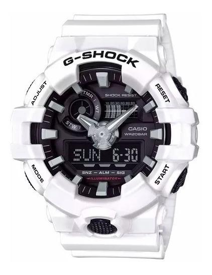Relógio G Shock Ga-700-7a Branco Fosco !!! Frete Grátis.