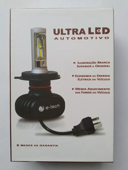 Kit Lampada Led Ultra Led E-tech Encaixe 8000k 12000 Lumens