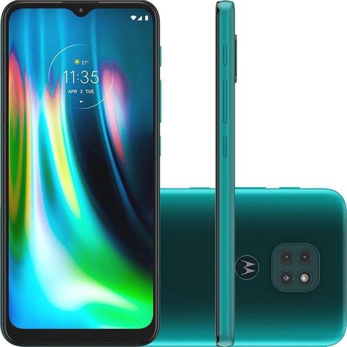 Imagem 1 de 10 de Smartphone Moto G9 Play 64gb 6.5  48mp  - Verde Turquesa