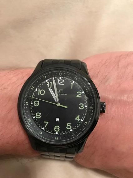 Relógio De Pulso Analógico Tommy Hilfiger Todo Em Aço Inox