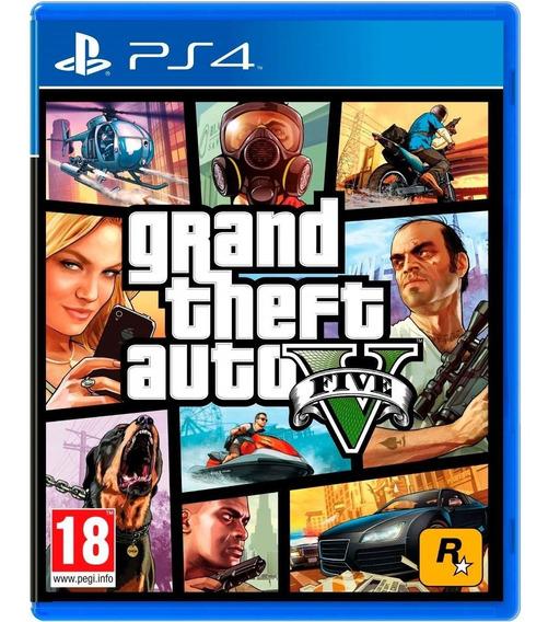 Grand Theft Auto V Gta 5 Ps4 Mídia Física Original Português
