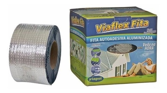 Manta Asfáltica Aluminizada Adesiva 20cm X 10mt C/ 3unidades