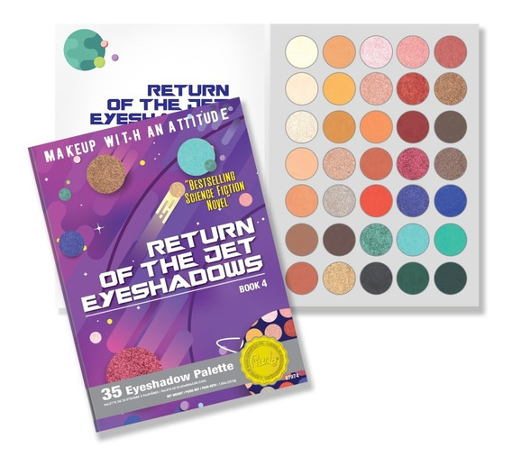 Paletade 35 Sombras Return Of The Jet Eyeshadow Book 4 Alta Pigmentación Tonos Mates Y Satinados Rude Cosmetics Original