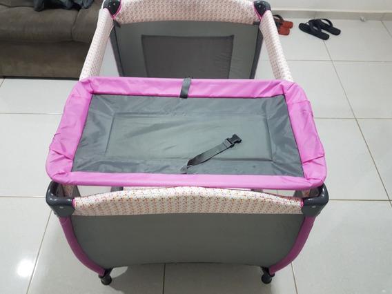 Berço Cercado Bebê Plus Rosa Jardim Baby Style