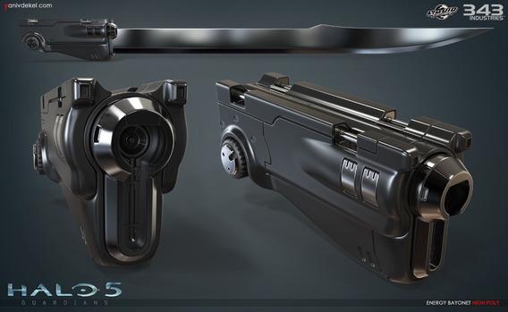 Archivos Stl De Impresión 3d - Halo 5 Espada Bayoneta