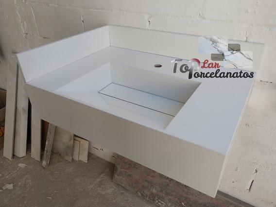 Pia Branca De Porcelanato Polido 70x50x15