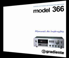 Manual Do Amplificador Gradiente Model 366 (cópia Colorida)