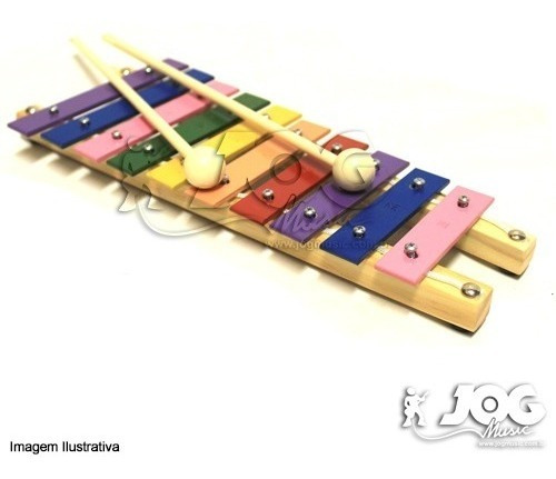 Xilofone 10 Teclas Coloridas Aprenda A Tocar