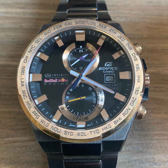 Relógio Edifice Casioefr542rbm-1adr Red Bull Limitado Usado
