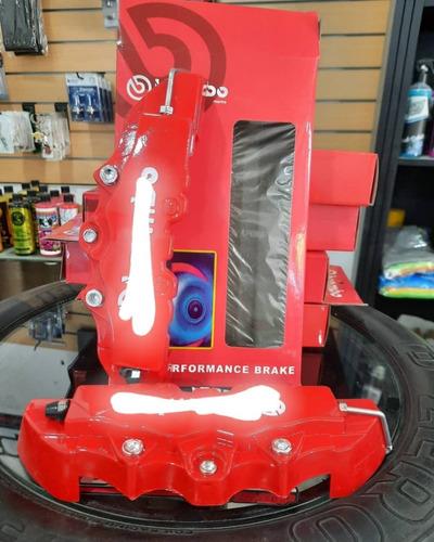 Cubre Caliper Universal 3d Rojo Accesorio 2x24 Fsgarage