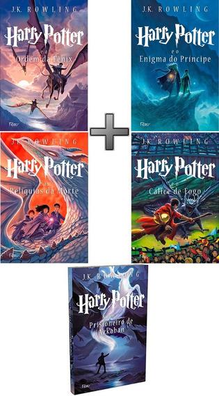 Coleção Harry Potter Com 5 Livros: Vols 3, 4, 5, 6; 7 No Box