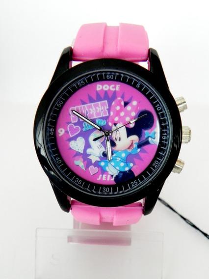 Marca Disney Reloj De Minnie Mouse Para Dama Original