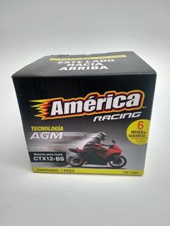 Motobateria America Ctx12-bs