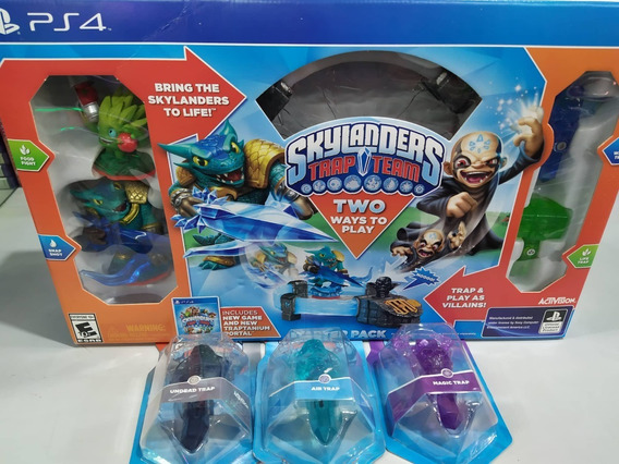 Skylanders Trap Team Ps4 Pt Br + 3 Traps