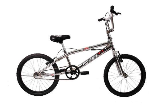 Bicicleta Bmx Freestyle Peretti Extreme Iii Cromada R20