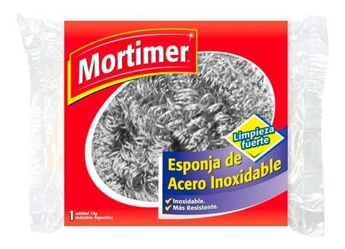 Esponja Limpieza Fuerte Acero Inoxidable Mortimer X 1 Unidad