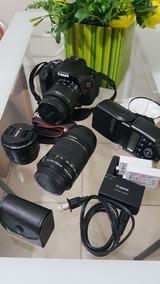 Kit Canon T3i + 3 Lentes +flash (originais)