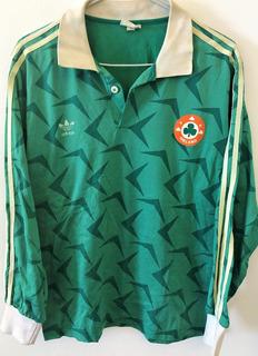 Camisa Irlanda Usada Em Jogo 1989/90 Ultra Rara