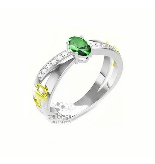 Anel De Formatura Prata 950 Feminino Com Símbolos Ouro 18k
