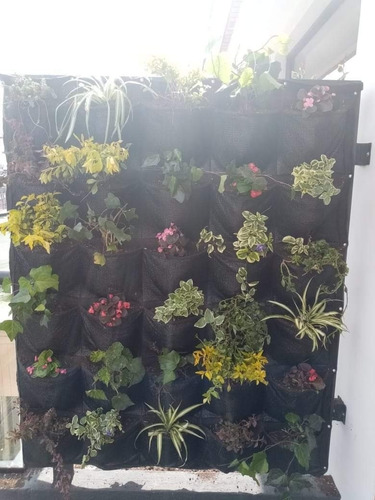 Panel Jardín Vertical 12 Bolsillos ( 60cm X 100cm)