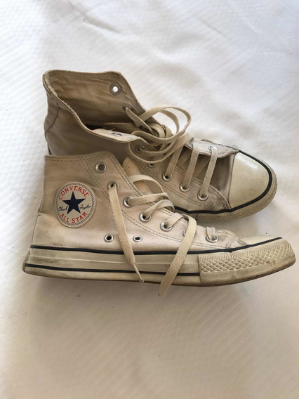 All Star Converse Botitas Lona Color Gris Claro! 38