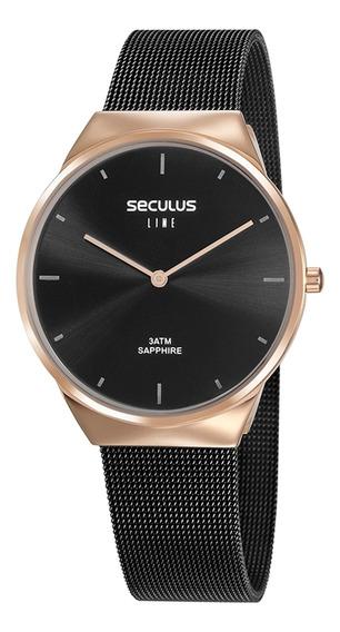 Relógio De Pulso Seculus Feminino Line Sapphire 35008gpsvia1