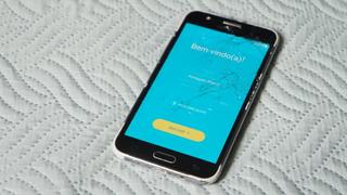 Celular Samsung Galaxy J5 4g Duos Com Tela Trincada