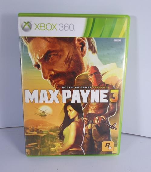 Max Payne 3 Xbox 360 Original Mídia Física Semi Novo Top