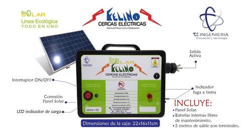 Impulsor Cerca Eléctrica Solar 40km (todo En Uno)