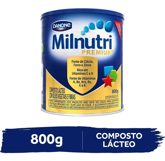 Milnutri Premium Composto Lácteo Infantil Lata 800g