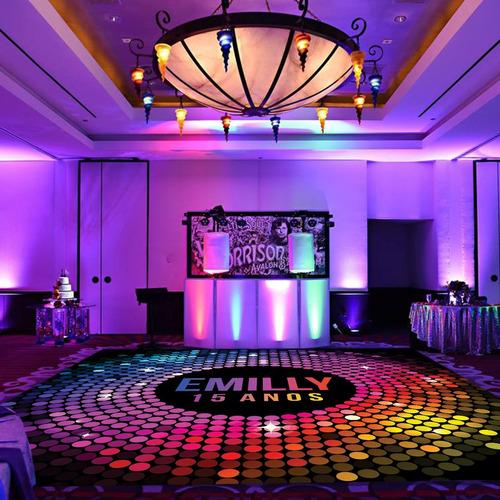 Pista De Dança Aniversário 15 Anos Disco Boate Db17 - 3x3m