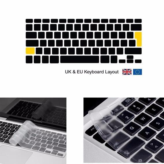 Capa Silicone Teclado Macbook Europeu Air 13, Pro 13,15 E 17