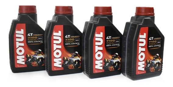 Aceite Moto 10w40 Sintetico 100% Motul 7100 Kit 4 Litros
