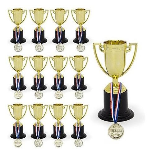 Imagen 1 de 5 de Increíble Conjunto De 12 Trofeos De 4 Pulgadas Y 12 Medallas