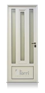 Puerta Aluminio Blanco Reforzada 080x200 Con Postigo