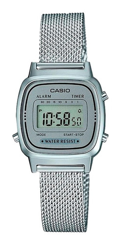 Reloj Mujer Casio La-670wem-7 Plateado Digital / Lhua Store