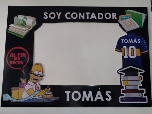 Imagen 1 de 9 de Marcos Selfies Personalizados Me Recibí Contador Egresado