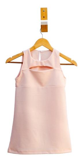 Vestido Nena Crepe Elastizado Curva Completa X5 Unidades