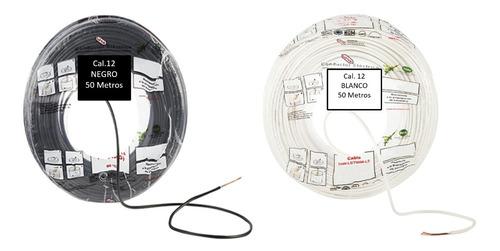 Kit 2 Bolsas 50 Mts Cable Iusa Blanco Y Negroa  Thw Cal 12