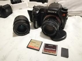 Dslr Sony Alpha A700 Com 2 Objetivas + 3 Cartões De Memória