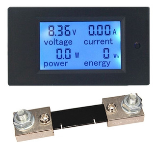 Wattímetro Voltímetro Amperímetro 12v 100v Dc 100a + Shunt