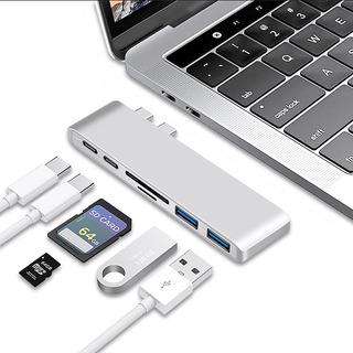 Adaptador Macbook Pro Tipo C Usb 3.0 Micro Sd 6 En 1