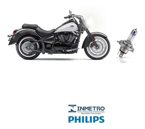 Lampada Farol Moto Kawasaki Vulcan Vn900 Philips H4 100%+luz