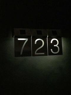 Números De Acero Inoxidable Con Luz Led Para Casa