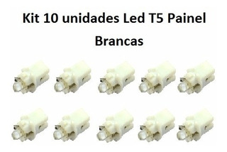 Kit 10 Unidades Painel Lâmpada T5 1led Branco Carro Barato