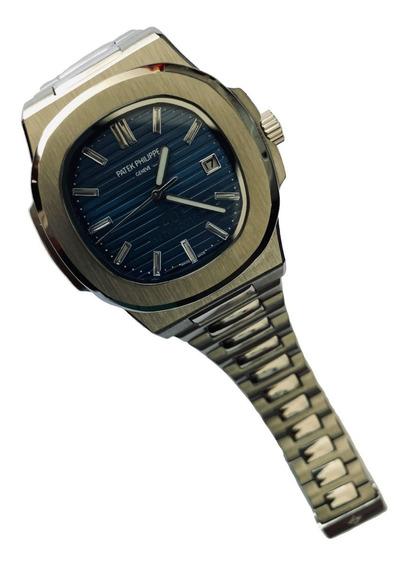 Reloj Patek Philippe Nautilus Cara Azul Automatico Zafiro