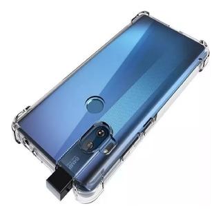 Capa Case Anti Shock + Película De Vidro 3d Moto One Hyper