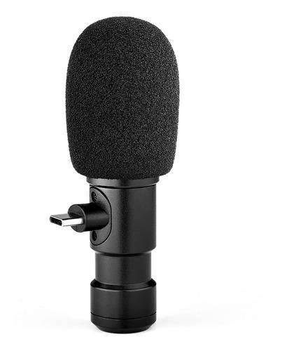 Andoer Plug-on Tipo-c Smartphone Microfone Vídeo Microfone C